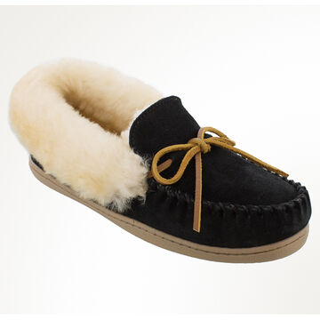 Minnetonka Womens Alpine Sheepskin Moccasin Slipper