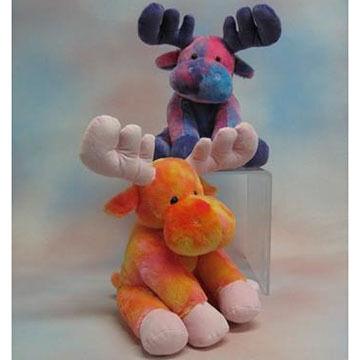 Wishpets Stuffed Tie Dye Moose
