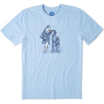 Life is Good Mens Salty Bird Crusher Short-Sleeve T-Shirt