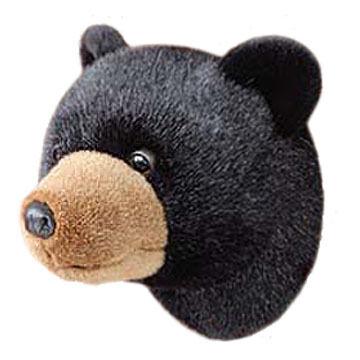 Stuffed Animal House Black Bear Junior Walltoy