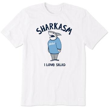 Life is Good Mens Sharkasm Crusher Short-Sleeve T-Shirt