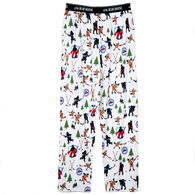 Hatley Little Blue House Men's Hockey Night in the Wild Jersey Pajama Pant