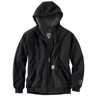 Carhartt Men's Rain Defender Rockland Sherpa-Lined Full Zip Hooded Sweatshirt