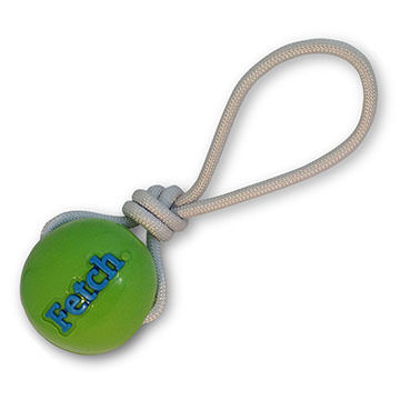Planet Dog Orbee Tuff Fetch Ball with Rope Dog Toy