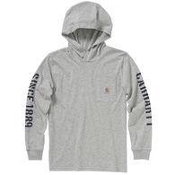 Carhartt Boy's Hooded Pocket Long-Sleeve Shirt