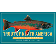 Trout of North America 2021 Wall Calendar by Joseph R. Tomelleri