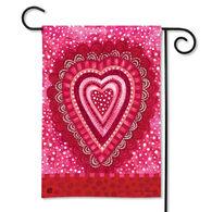BreezeArt Sweet Hearts Garden Flag