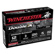 "Winchester Double X 12 GA 3"" 15 Pellet #00 Buckshot Ammo (5)"