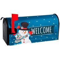 Evergreen Snowman Mailbox Cover