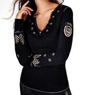 Alp N Rock Women's Winter Luxe Henley Long-Sleeve Shirt