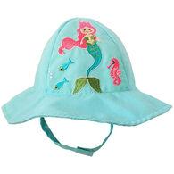 Huggalugs Infant/Toddler Girl's Mermaid Sun Hat