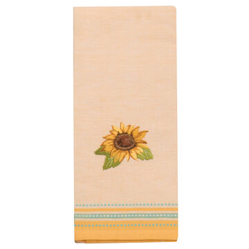 Kay Dee Designs Sunflower Fields Embroidered Gold Tea Towel