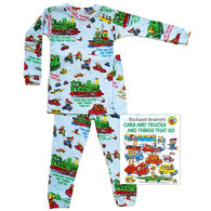Books to Bed Cars and Trucks and Things that Go Pajamas & Book Set