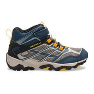 Merrell Boys' Moab FST Mid A/C Waterproof Sneaker/Hiking Shoe