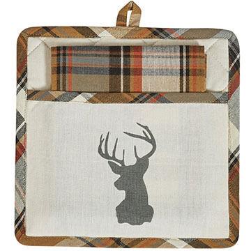 Park Designs Deer Pocket Pot Holder Set