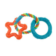 Chomper Mini TPR Rope 'N Rings Dog Toy