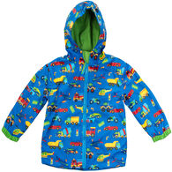 Stephen Joseph Toddler Boy's Transportation Rain Jacket