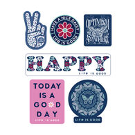 Life is Good Happy Pack Six-Pack Sticker Pack