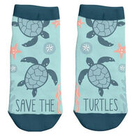 Karma Women's Save The Turtles Ankle Sock