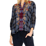 Johnny Was Women's Mona Effortless Swing Long-Sleeve Blouse
