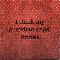 Paisley & Parsley Designs Guardian Angel Drinks Marble Tiles Coaster