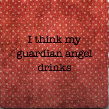 Paisley & Parsley Designs Guardian Angel Drinks Marble Tiles Coaster