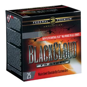 """Federal Premium Black Cloud FS Steel 12 GA 3"""" 1-1/4 oz. #4 Shotshell Ammo (25)"""