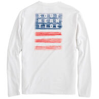 Southern Tide Men's Distressed Wood Flag Performance Long-Sleeve T-Shirt