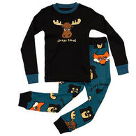 Lazy One Boys' Sleepy Head Pajama Set