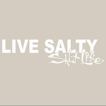 Salt Life Live Salty Decal - White