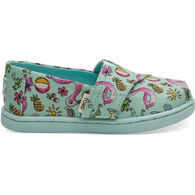 TOMS Boys' & Girls' Tiny TOMS Mint Poolside Floaties Classic Shoe