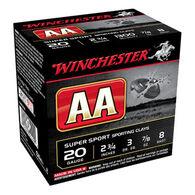 """Winchester AA Target 20 GA 2-3/4"""" 7/8 oz. #8 Shotshell Ammo (25)"""