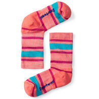 SmartWool Boys' & Girls' Striped Hike Light Cushioned Crew Sock