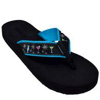 Tidewater Sandals Women's Glamour Cocktail Flip Flop Sandal
