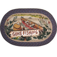 Capitol Earth Gone Fishing Oval Braided Rug