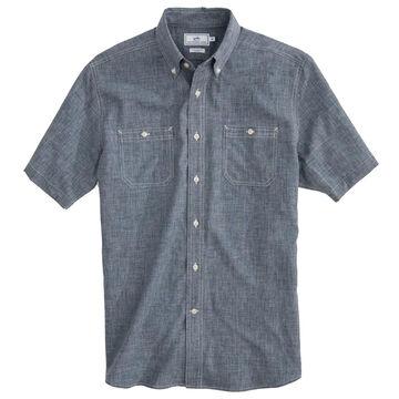 Southern Tide Mens Performance Dock Short-Sleeve Shirt