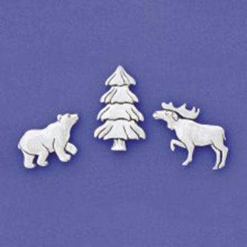 Basic Spirit Moose Bear Tree Magnet Set