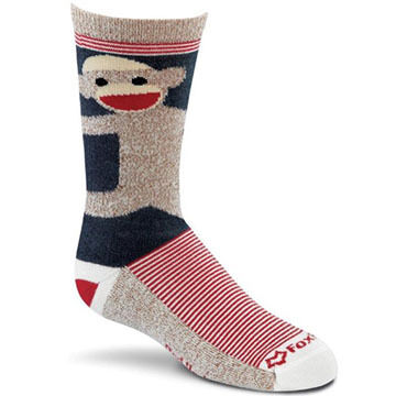 Fox River Mills Boys & Girls Monkey Hugs Sock