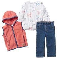 Carhartt Infant Girl's Vest 3-Piece Set