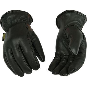Kinco Mens Lined Grain Goatskin Leather Driver Glove