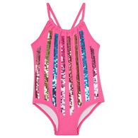 Hatley Girl's Colorful Stripes Swimsuit
