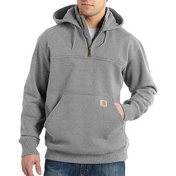 Carhartt Mens Paxton Heavyweight Zip Mock Hooded Sweatshirt