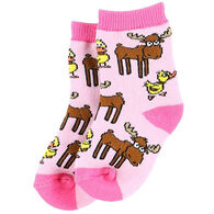 Lazy One Infant Girls' Duck Duck Moose Infant Sock