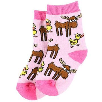 Lazy One Infant Girls Duck Duck Moose Infant Sock