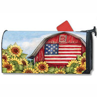 MailWraps Old Glory Barn Mailbox Cover