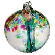 "Kitras Art Tree Of Enchantment 6"" Glass Ball"