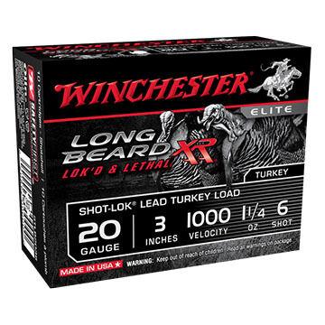 "Winchester Long Beard XR 12 GA 3"" 1-1/4 oz. #6 Shotshell Ammo (10)"