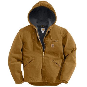 Carhartt Mens Sandstone Sierra Sherpa-Lined Jacket
