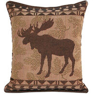 """Paine Products 7"""" x 9""""  Small Moose Tapestry Balsam Pillow"""