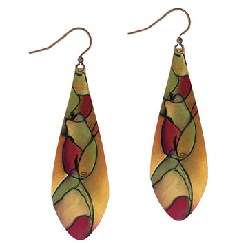 Illustrated Lights Womens DC Designs Rose Teardrop Earring